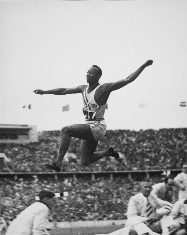 Jesse Owens in the 1936 Olympics