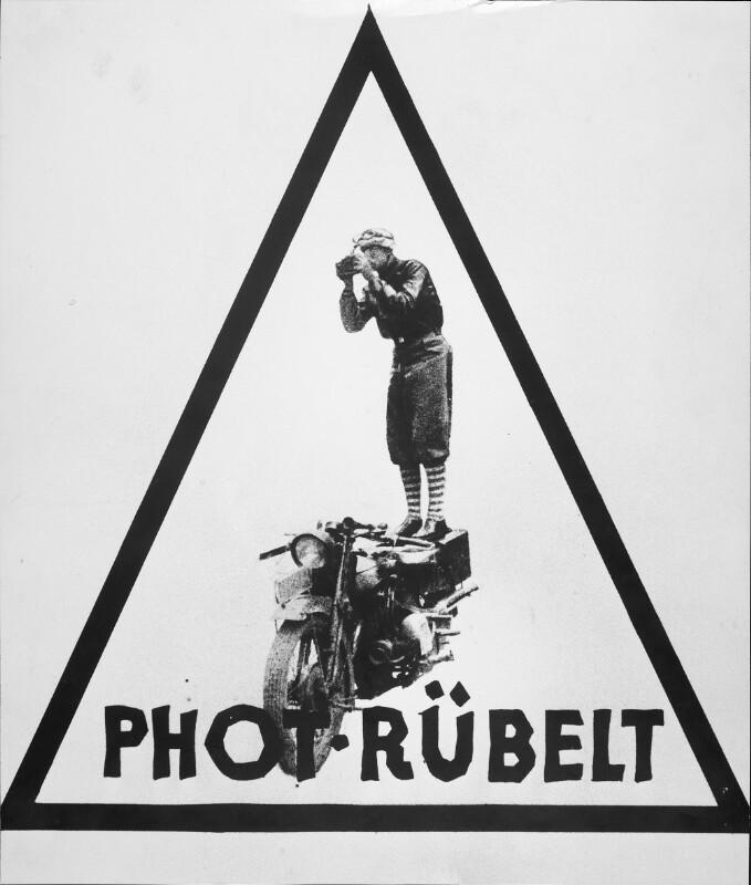 Werbetafel des Fotografen Lothar Rübelt