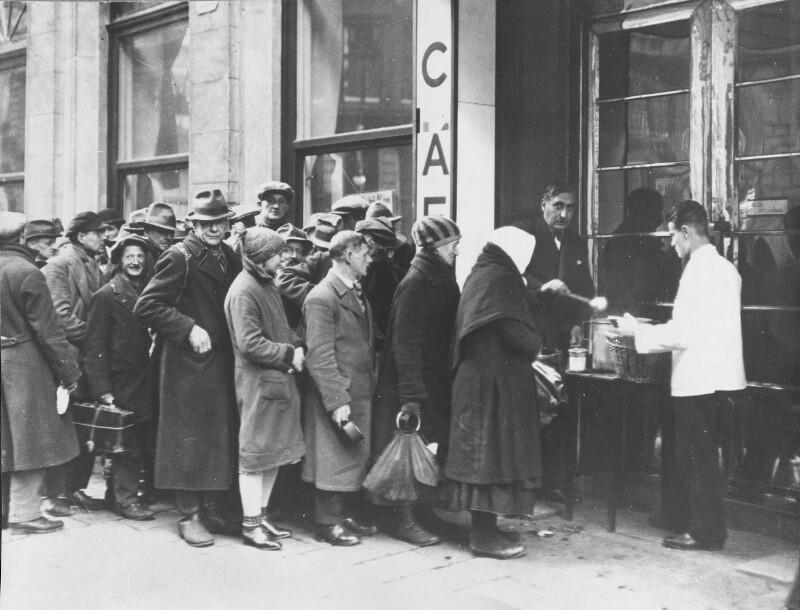 Ausspeisung für Bedürftige in Steyr