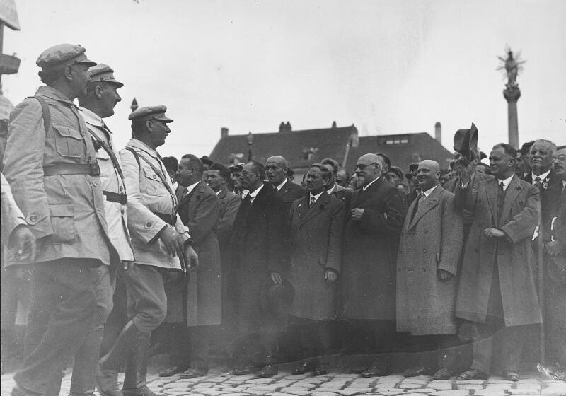 Schutzbundaufmarsch in Wiener Neustadt