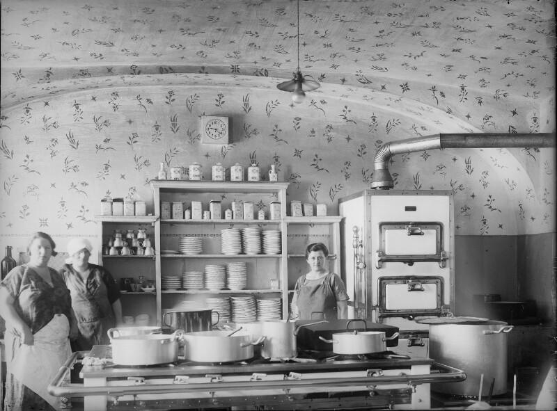 Küche in einem Gasthaus