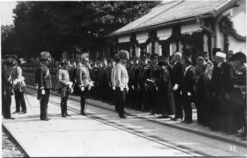 Ankunft von Thronfolger Franz Ferdinand in Mostar