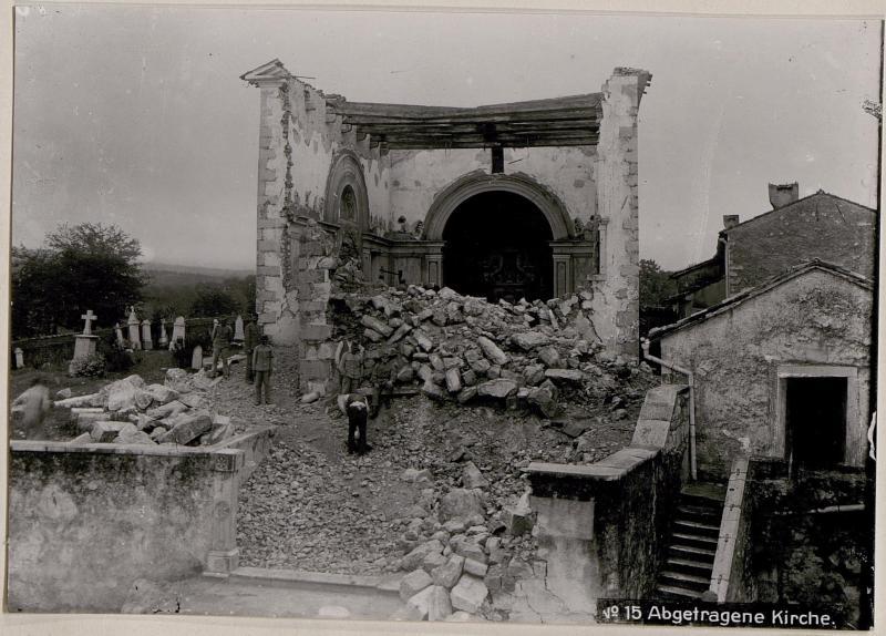 Abgetragene Kirche.
