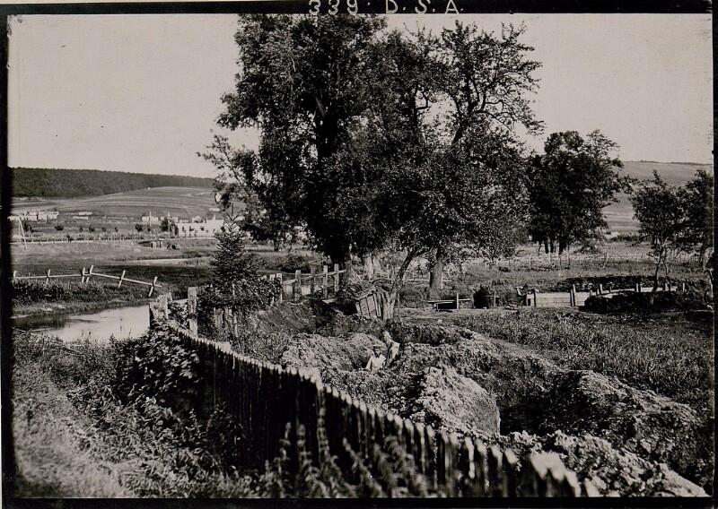 Brzezany, Eigene Stellung an der Ortsumfassung (Blick von innen).
