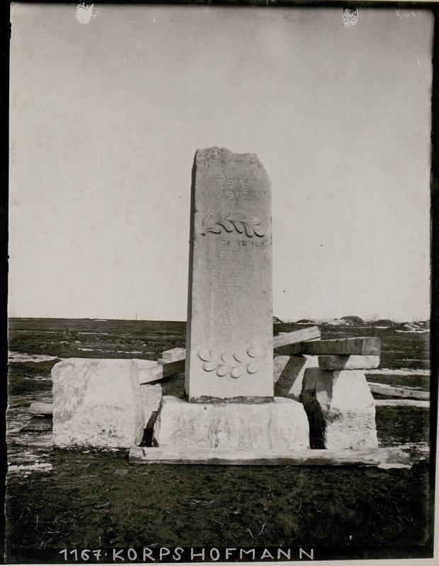Denkmal auf der Lysonia.