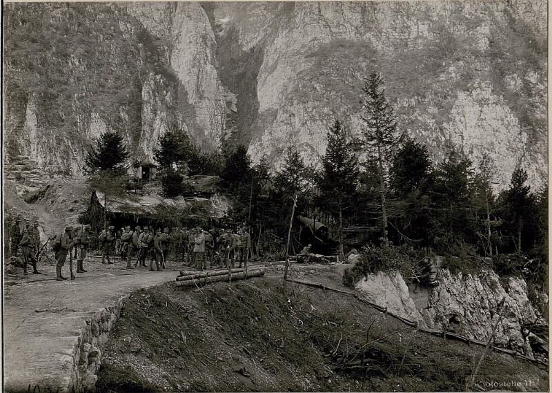 Borcola-Pass, Italienischer 28 cm Mörser