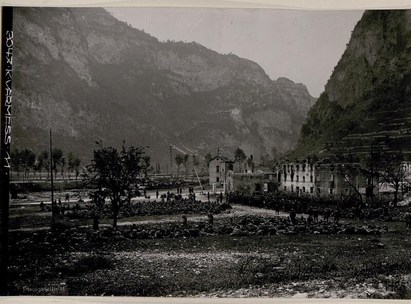 Cismon. Gefangene Italiener aus der Offensive vom Juni 1918