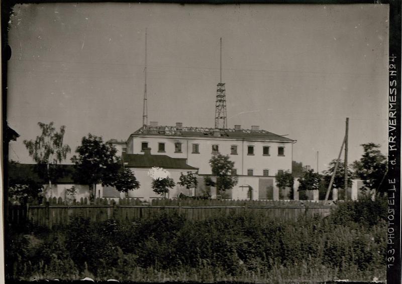 Deutsche Funkstation auf dem russischen Gefangenenhaus in Kowel