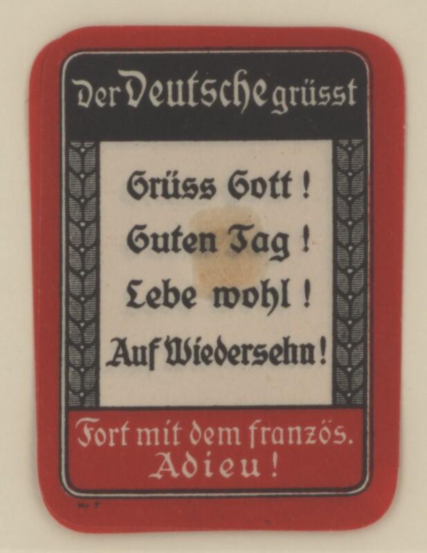 Verschlussmarke - Propagandamarke - Der Deutsche grüßt - Kleinstgrafik
