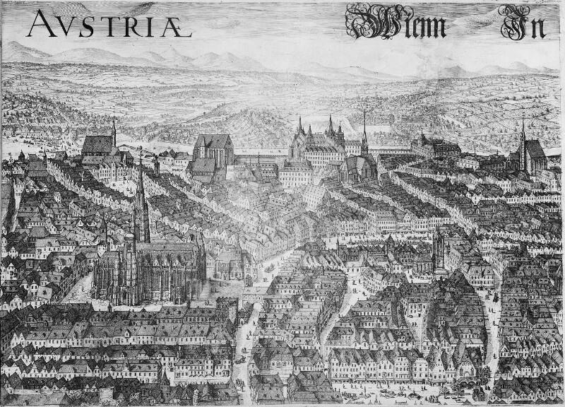 Vogelschauplan Wien 1606, Ausschnitt