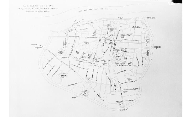 Plan der Stadt Wien 1137-1310