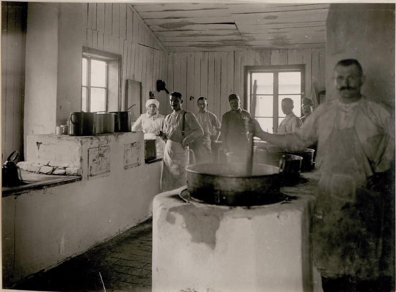 Epidemiespital in Kolomea. Mannschaftsküche.