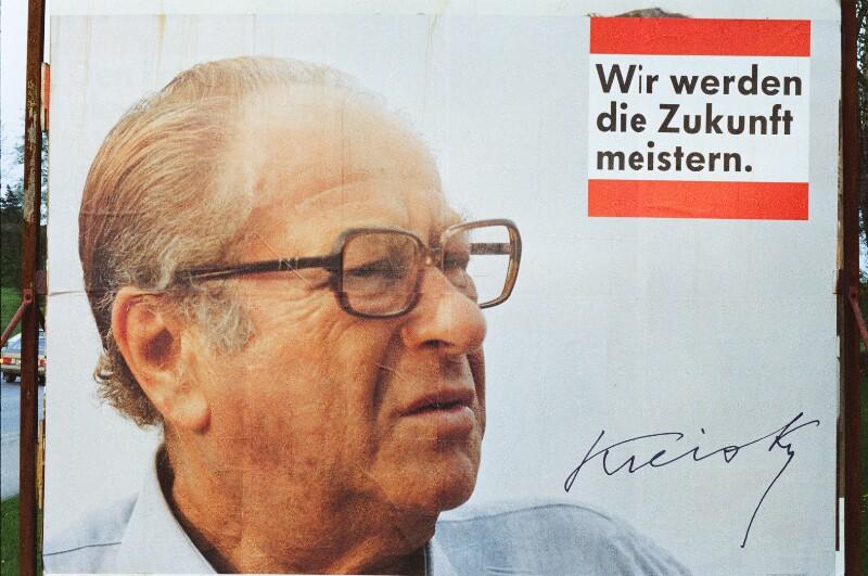Wahlplakat mit Bruno Kreisky