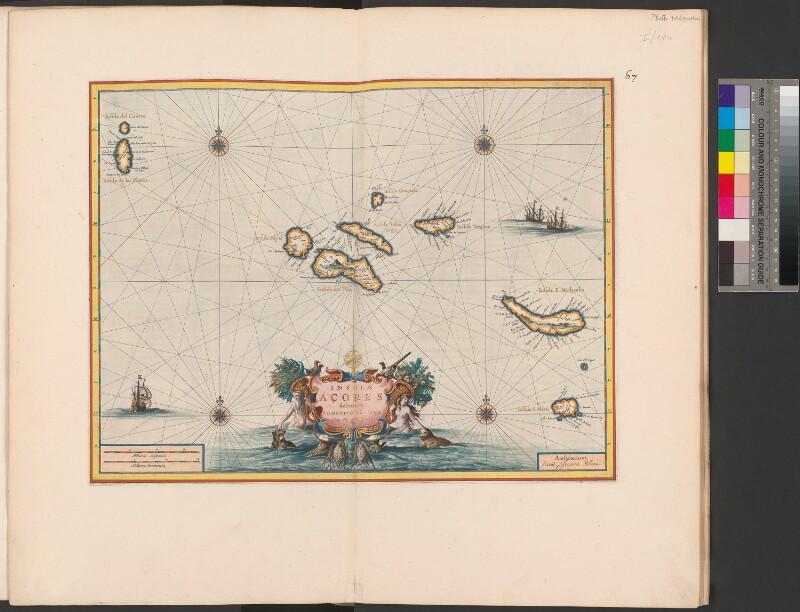 Landkarte der Azoren