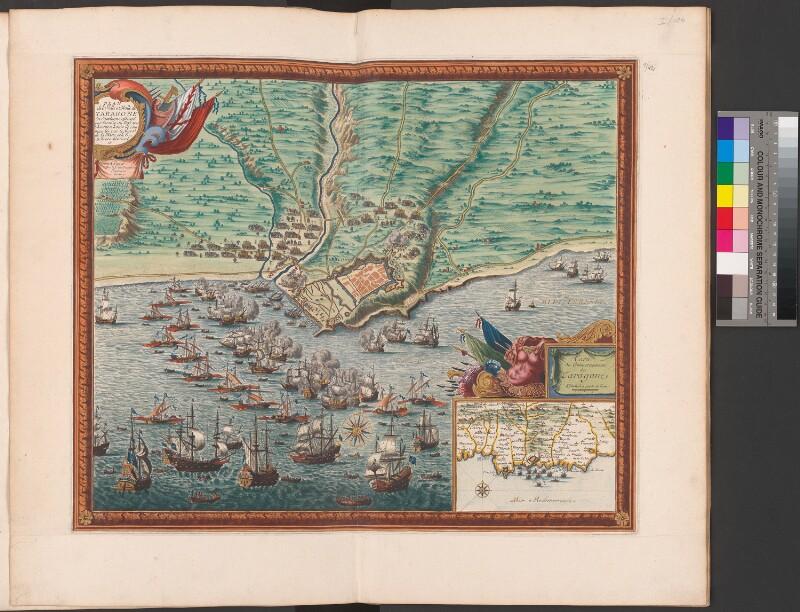 Karte des französischen Angriffs auf Tarragona im Jahre 1644