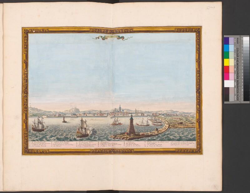 Ansicht von Barcelona mit dem Hafen