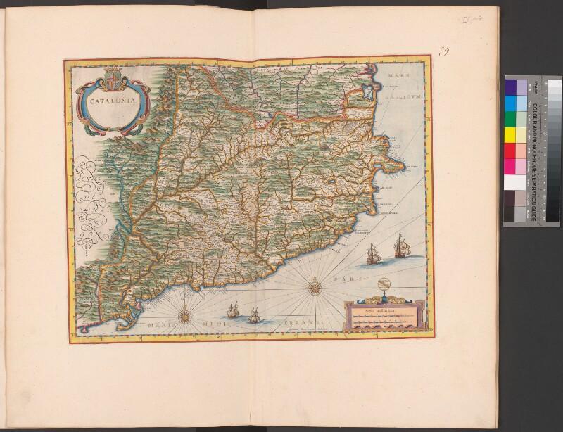 Landkarte von Katalonien