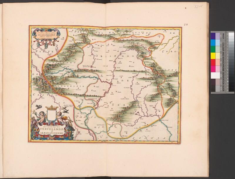 Landkarte des Bistums Teruel y Albarracín