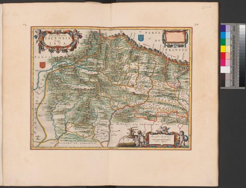 Landkarte der Diözese Jaca