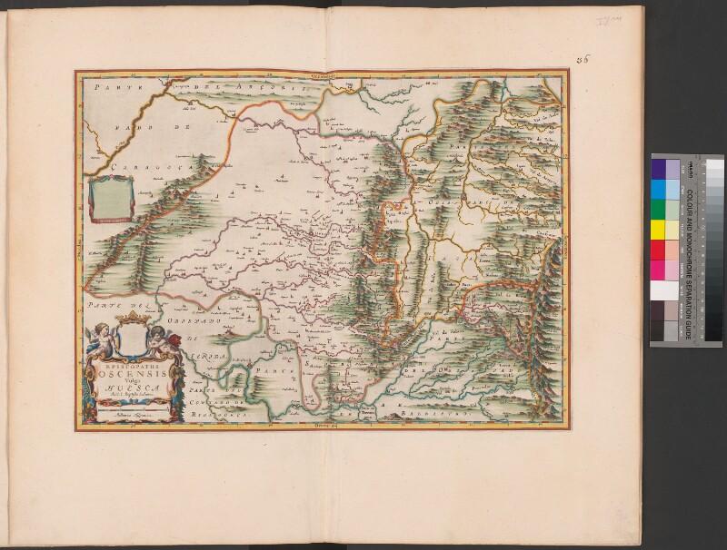 Landkarte der Diözese Huesca