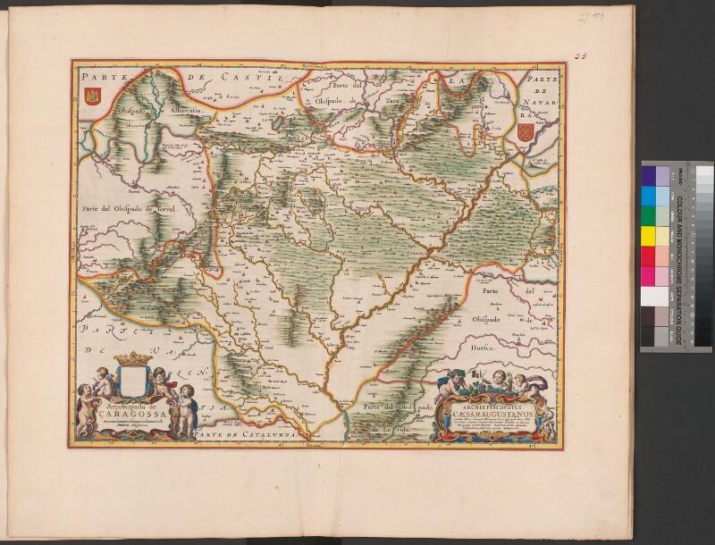 Landkarte der Erzdiözese Zaragoza