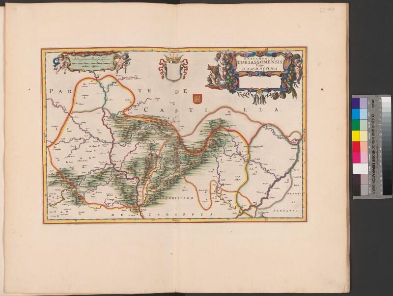 Landkarte der Diözese Tarazona
