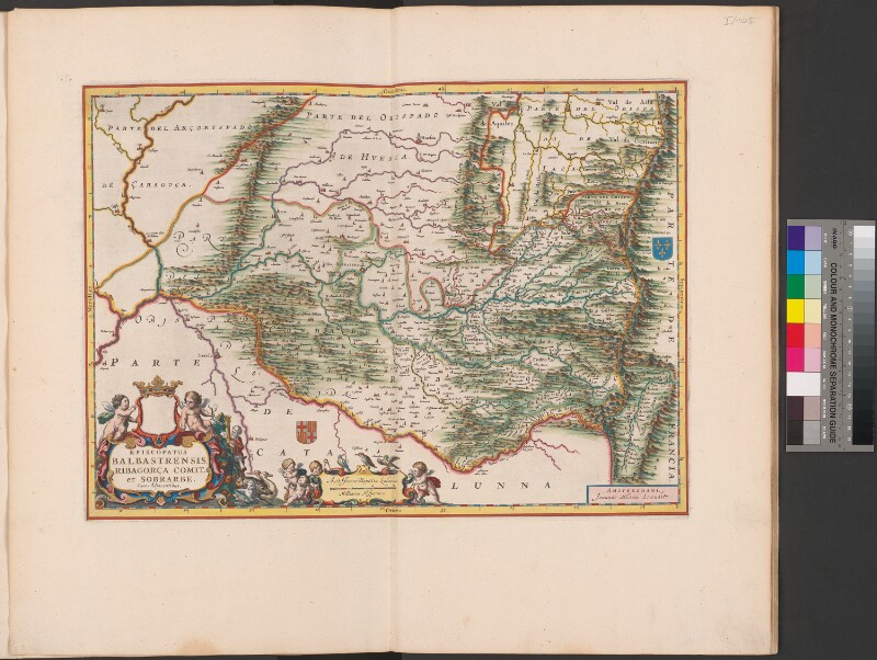 Landkarte der Diözese Barbastro und der Region Ribagorza