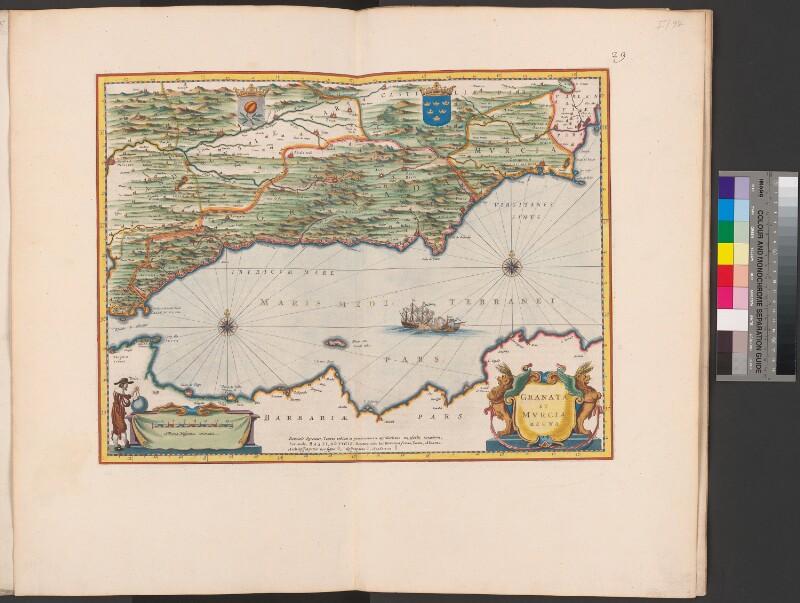 Landkarte von Granada und Murcia