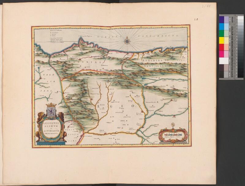 Landkarte von León und Asturien