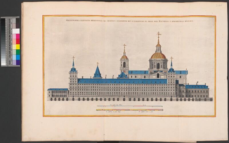 Die Südfassade des Escorial