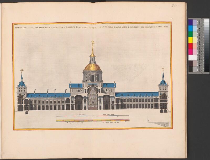 Querschnitt der Escorial-Kirche