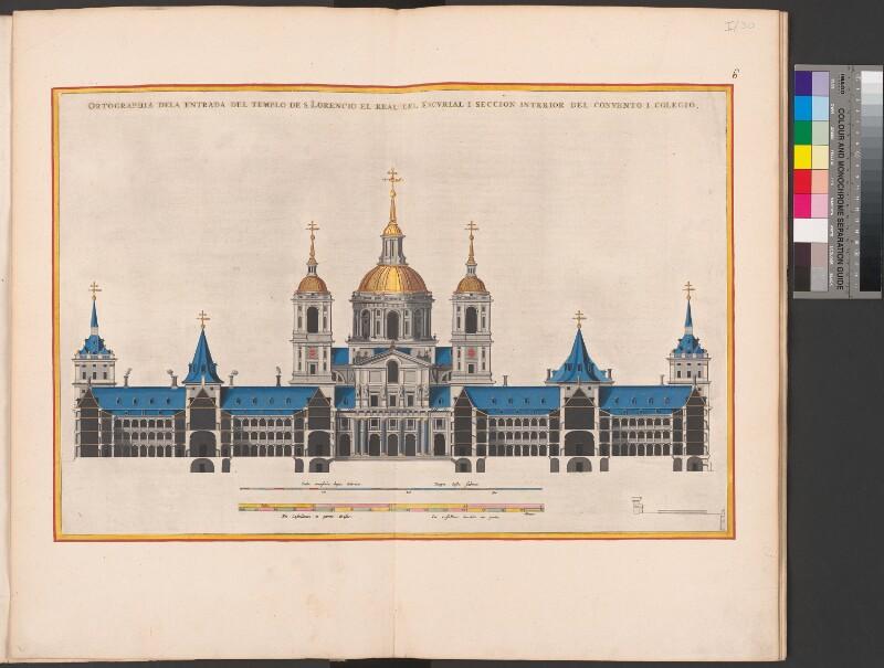 El Escorial: Querschnitt des Kollegiums und Klosters