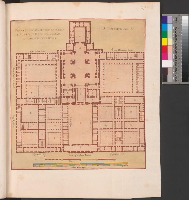 Zweiter Entwurf des gesamten Escorial-Gebäudes