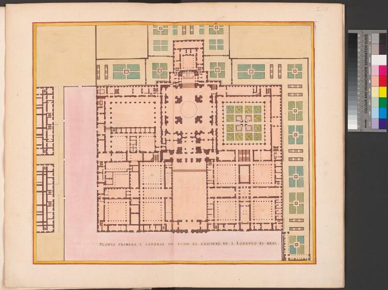 Erster Entwurf des gesamten Escorial-Gebäudes