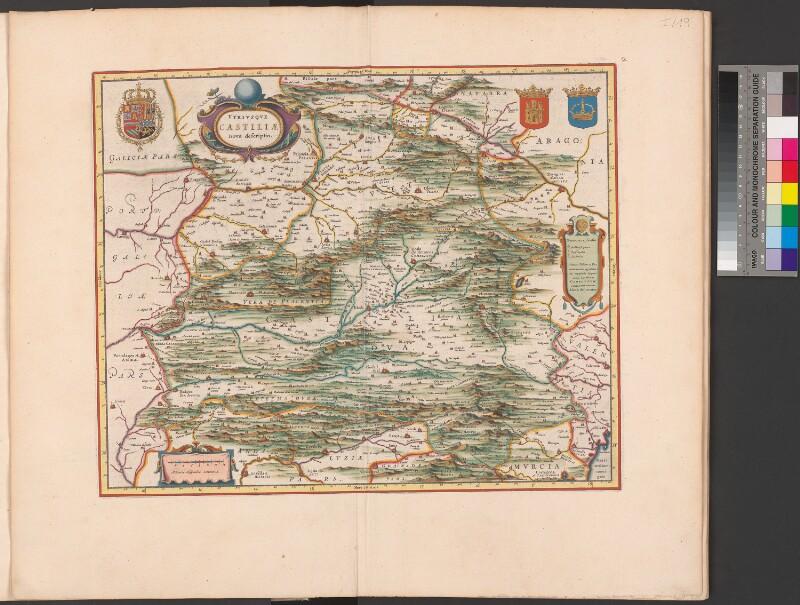Landkarte von Alt- und Neukastilien