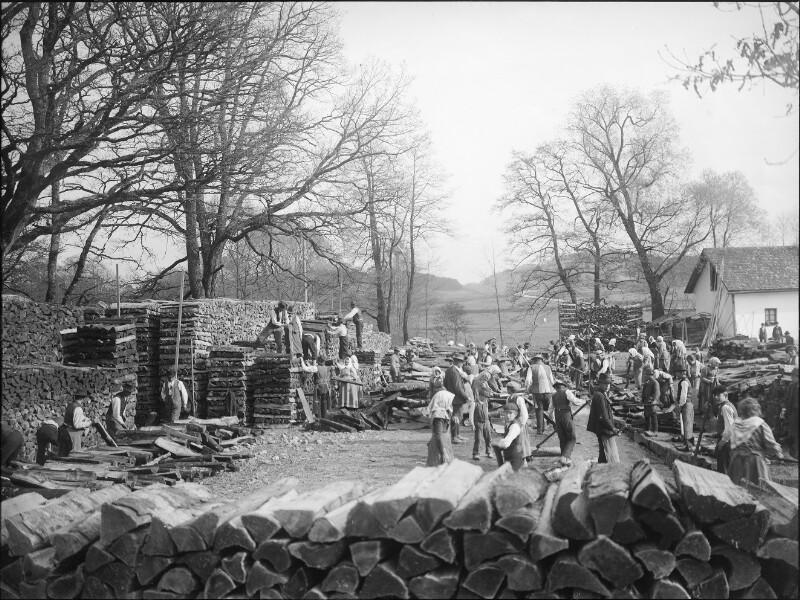 Lagerplatz an der Großen Mühl bei Schlägl