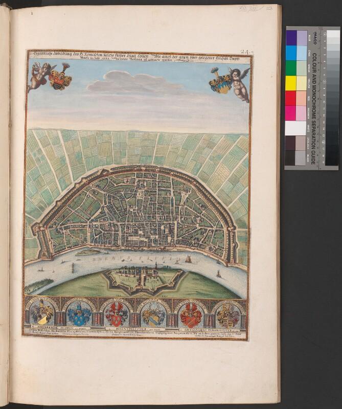 Plan von Köln