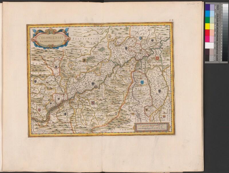 Landkarte der Erzdiözese Köln