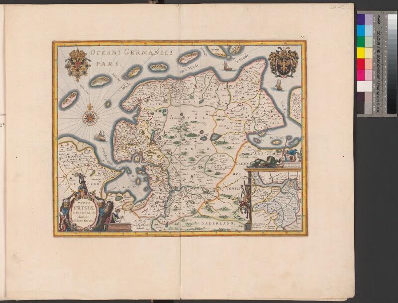 Landkarte von Ostfriesland