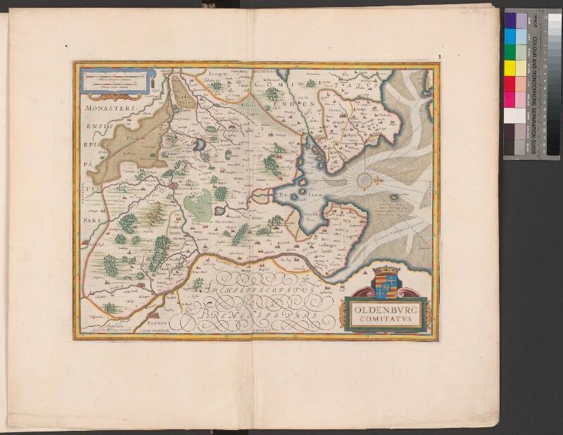 Landkarte des Herzogtums Oldenburg