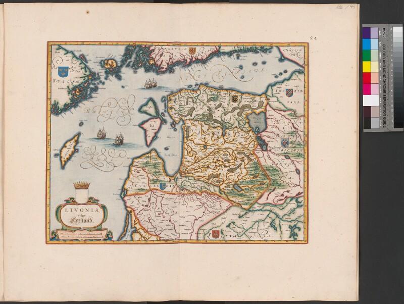 Landkarte von Estland, Livland und Lettland