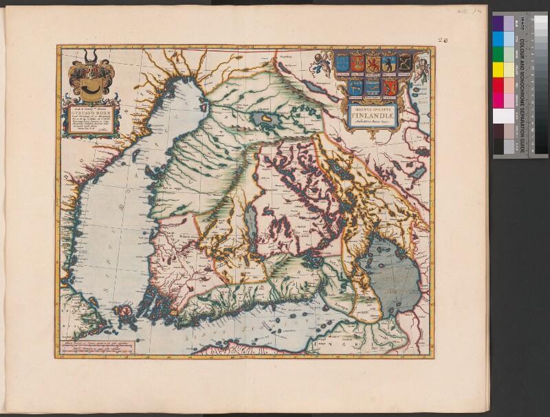 Landkarte von Finnland