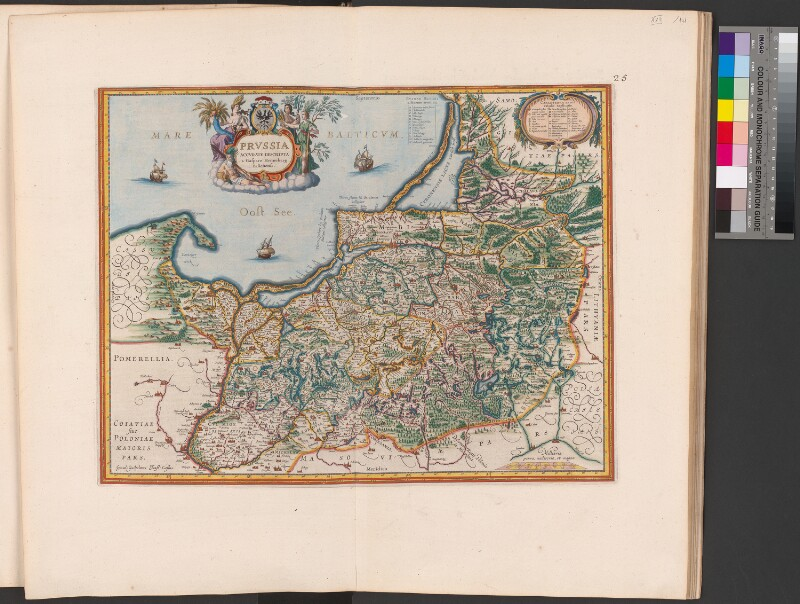 Landkarte von Preussen
