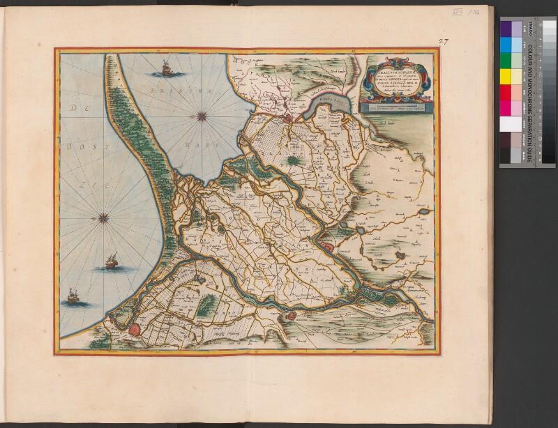 Landkarte des Weichseldeltas