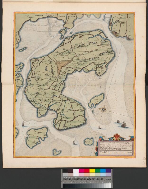 Karte der nordfriesischen Halbinsel Nordstrand