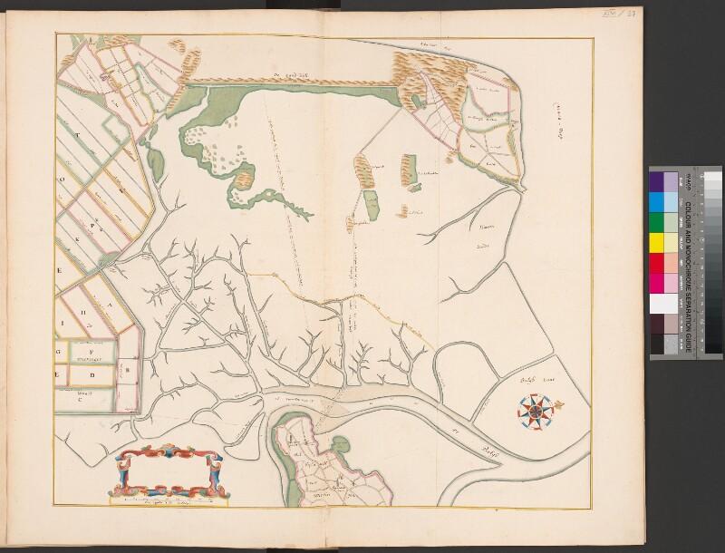 Karte des Marschlandes bei Koegras