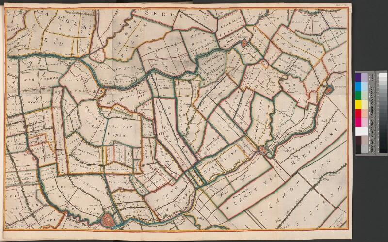Karte des Rheinlandes, südöstlicher Teil