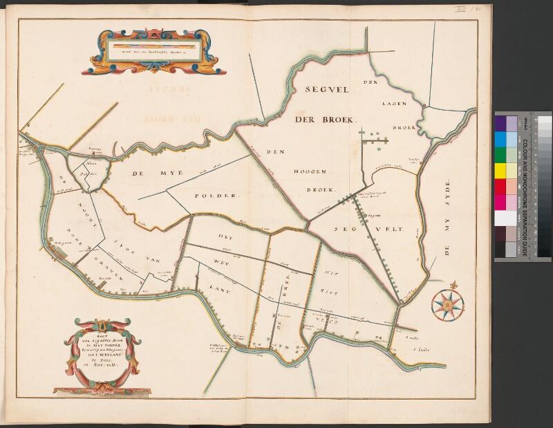 Karte des Marschlandes zwischen Oude Rijn und Meije