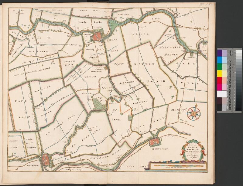 Karte des Marschlandes zwischen Woerden, Oudewater und Montfoort