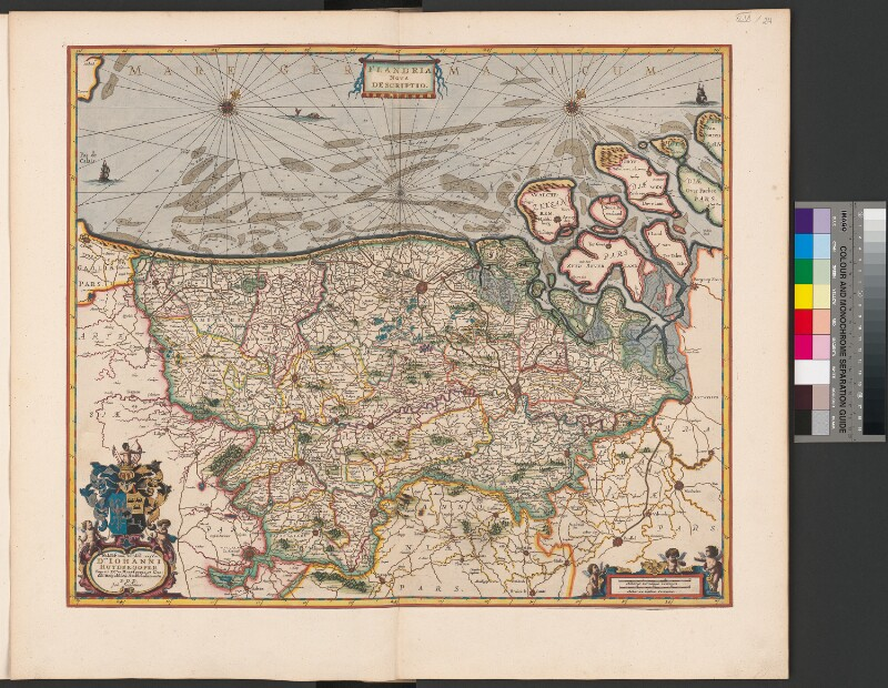 Karte von Flandern